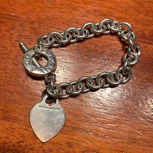 Authentic Tiffany & Co heart tag toggle bracelet